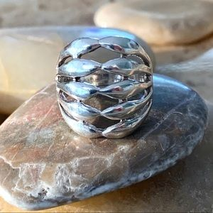 Five Row Sterling Silver Band Ring